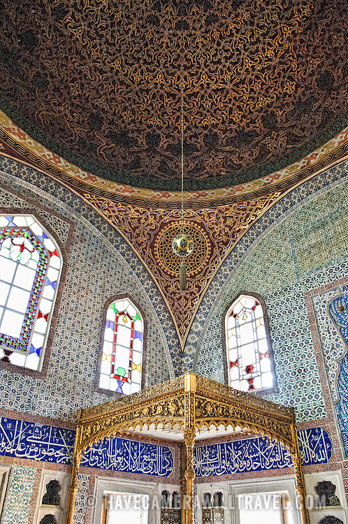 One of the oldest and most ornately decorated rooms in the Harem, the Privy Chamber of Murat III features an impressive domed ceiling and exceptionally intricate ceramic tiling throughout.