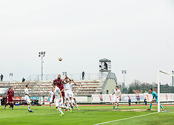Luka Majcen of Triglav  during Football match between NK Triglav and NK Rudar in 27th Round of Prva liga Telekom Slovenije 2018/19, on April 13, 2019, in Sports centre Kranj, Slovenia. Photo by Vid Ponikvar / Sportida