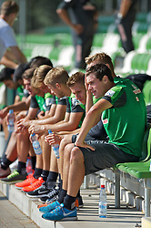 27.08.2013, Weserstadion, Bremen, GER, 1.FBL, Training SV Werder Bremen, im Bild Zlatko Junuzovic (Bremen #16), vorne, mit Mitspielern bei einer Pause waehrend des Laktattests // during the training session of the German Bundesliga Club SV Werder Bremen at the Weserstadion, Bremen, Germany on 2013/08/27. EXPA Pictures © 2013, PhotoCredit: EXPA/ Andreas Gumz <br /> <br /> ***** ATTENTION - OUT OF GER *****