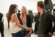 YASMINE MILLS; KATE MOSS; JAMIE HINCE, Jake or Dinos Chapman, White Cube, Mason's Yard and afterwards at The Tab Centre, Austin Street, London E2. 14 July 2011. <br /> <br />  , -DO NOT ARCHIVE-© Copyright Photograph by Dafydd Jones. 248 Clapham Rd. London SW9 0PZ. Tel 0207 820 0771. www.dafjones.com.