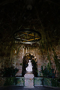 Entrance to Leda's Cave at Quinta da Regaleira, an estate, near Sintra, Portugal, and a UNESCO World Heritage Site.