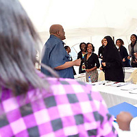 "Dr. Okoth Okombo, a political leadership and communication expert as well as a professor at the University of Nairobi, discusses effective communication skills at the  Fall 2011 Network of Young Women Leaders (NoYWL) ""Answer the Call to Lead"" training."