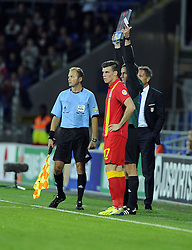 Gareth Bale of Wales (Real Madrid) comes on  - Photo mandatory by-line: Joe Meredith/JMP - Tel: Mobile: 07966 386802 10/09/2013 - SPORT - FOOTBALL - Cardiff City Stadium - Cardiff -  Wales V Serbia- World Cup Qualifier