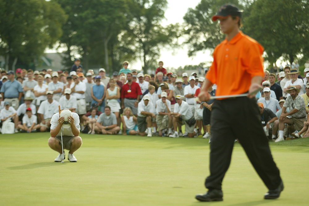 2003 US Amateur Championship.Finals.Oakmont Country Club.Oakmont, PA.Saturday, August 23, 2003.photograph by Darren Carroll
