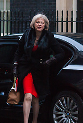 London, February 3rd 2015. Members of the cabinet gather at Downing Street for their weekly meeting. PICTURED: Home Secretary Theresa May