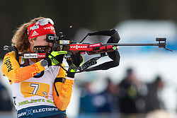 Janina Hettich (GER) during the Mixed Relay 2x 6 km / 2x 7,5 km at day 3 of IBU Biathlon World Cup 2019/20 Pokljuka, on January 23, 2020 in Rudno polje, Pokljuka, Pokljuka, Slovenia. Photo by Peter Podobnik / Sportida