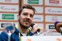 Goran Dragic at press conference of KZS and Slovenian national baskteball team after winning Gold medal at Eurobasket 2017 - Istanbul on September 19, 2017 in Austria Trend Hotel, Ljubljana, Slovenia. Photo by Matic Klansek Velej / Sportida