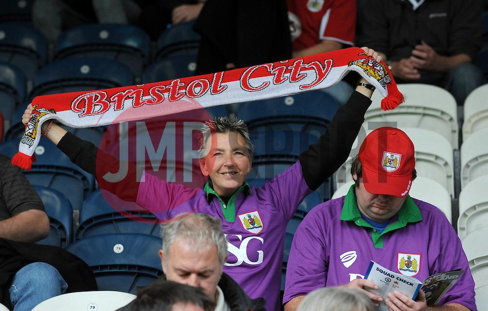 Bristol City fans - Photo mandatory by-line: Dougie Allward/JMP - Mobile: 07966 386802 23/08/2014 - SPORT - FOOTBALL - Manchester - Spotland Stadium - Rochdale AFC v Bristol City - Sky Bet League One