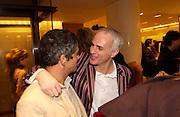 Harry Handlesman and Mourad Mazouz, Art Review Power 100 party, Louis vuitton, 6 November 2003. © Copyright Photograph by Dafydd Jones 66 Stockwell Park Rd. London SW9 0DA Tel 020 7733 0108 www.dafjones.com