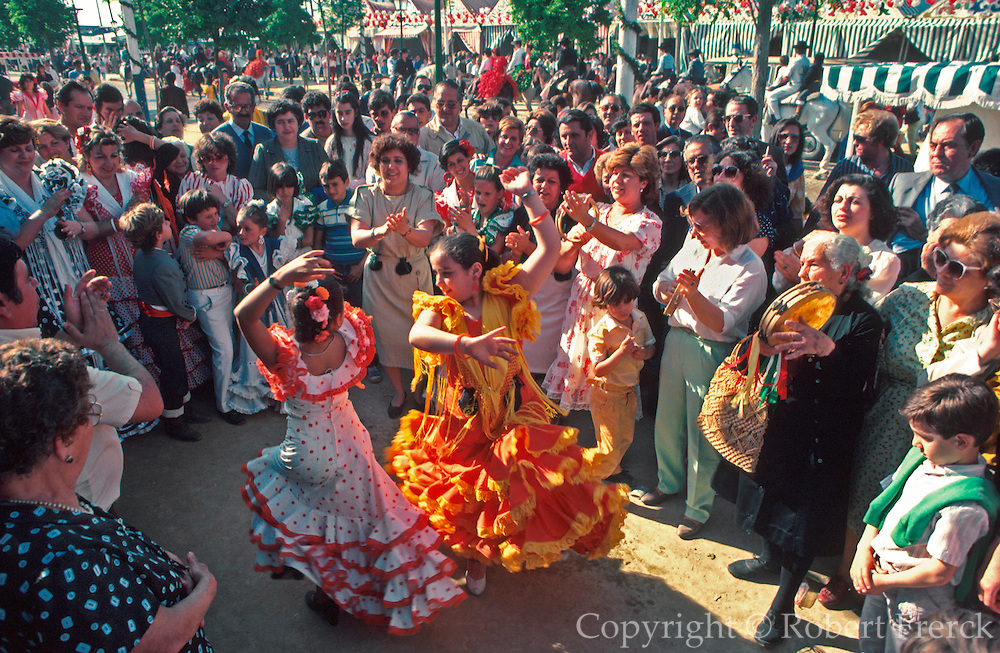 SPAIN, ANDALUSIA, FESTIVALS famous 'Feria de Abril' in Seville