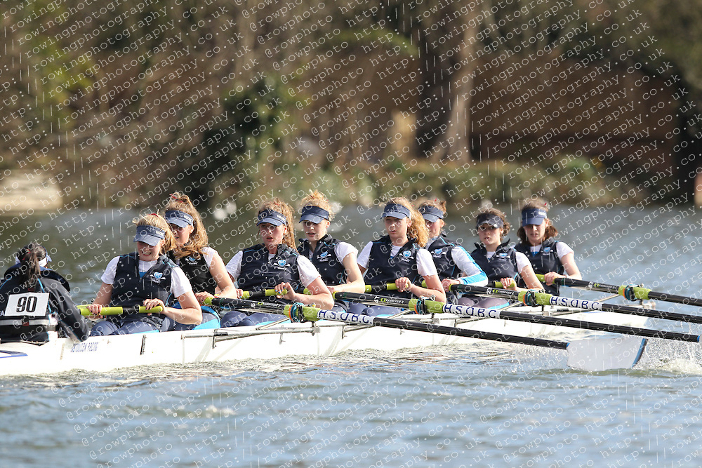 2012.02.25 Reading University Head 2012. The River Thames. Division 1. Headington School Boat Club W.IM2 8+