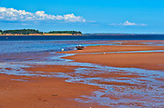 Red sandy beach at low tide. Northumberland Strait<br />Lower Montague<br />Prince Edward Island<br />Canada