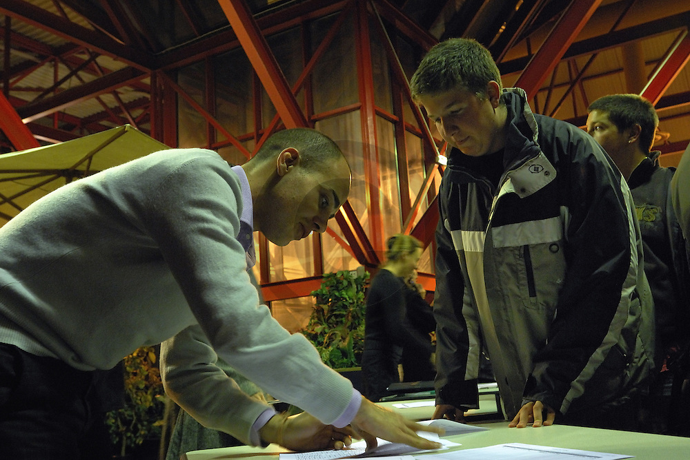 15/11/07 - MONTLUCON - ALLIER - FRANCE - Democratie participative. Etapes 2007 des Assises Territoriales organisées par la Region AUVERGNE - Photo Jerome CHABANNE