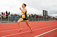 UVM's Yolanda Ngarambe competes in the 800 meter dash during the first day of the America East Track and Field Championship at the Frank H. Livak Track and Field Facility on Saturday May 3, 2014 in Burlington, Vermont. (BRIAN JENKINS, for the Free Press)
