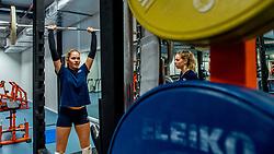 15-03-2017 NED:  Training jeugd Oranje, Arnhem<br /> Jeugd Oranje klaar voor het EK in eigen land maar eerst nog een pittige training / Demi Korevaar #7 of Netherlands