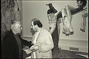 HOWARD HODGKIN; SALMAN RUSHDIE, Sensation Opening. Royal Academy of Art. London.16 September 1997.