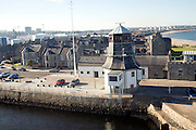 Old lighthouse and housing, Pocra Quay, Aberdeen, Scotland