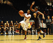 """Ole Miss' Valencia McFarland (3) vs. Central Michigan's Jessica Green (3) at C.M. """"Tad"""" Smith Coliseum in Oxford, Miss. on Wednesday, December 14, 2011."""