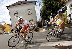 Domen Hribar (SLO) of Motomat Delo Revije after start in Sentjernej of the 4th stage of Tour de Slovenie 2009 from Sentjernej to Novo mesto, 153 km, on June 21 2009, Slovenia. (Photo by Vid Ponikvar / Sportida)