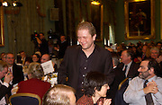 John Culshaw (Dead Ringers)receives award for best Political Satire, Political Studies Association Awards 2004. Institute of Directors, Pall Mall. London SW1. 30 November 2004.  ONE TIME USE ONLY - DO NOT ARCHIVE  © Copyright Photograph by Dafydd Jones 66 Stockwell Park Rd. London SW9 0DA Tel 020 7733 0108 www.dafjones.com