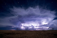 This nicely self-contained thunderstorm brought rain and hail to the Texas panhandle in advance of a strong cold front.