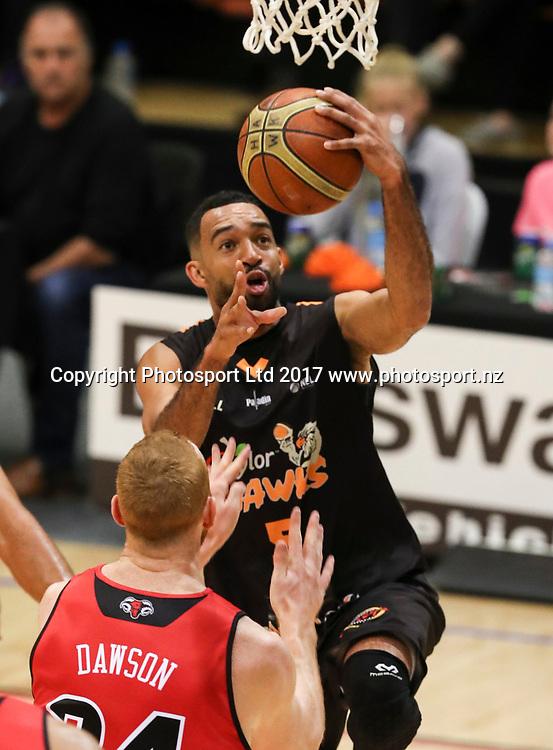 Hawks Everard Bartlett. Hawks v Rams, NBL Basketball, PG Arena, Napier, New Zealand. Tuesday, 25 April 2017. Copyright photo: John Cowpland / www.photosport.nz
