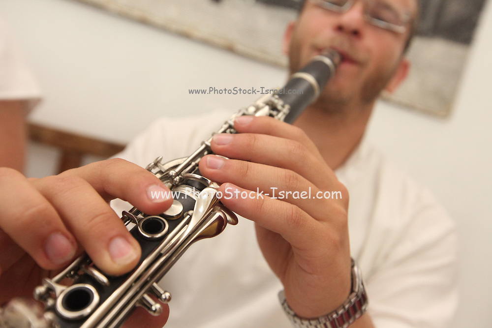 Klezmer plays the clarinet, Israel, Jerusalem, Old City, Jewish Quarter