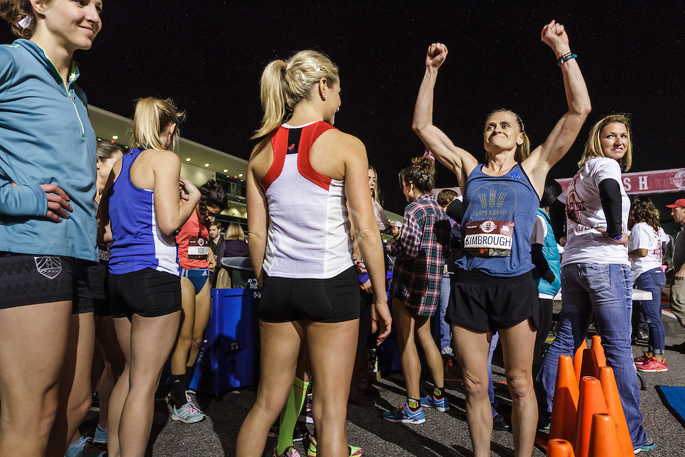 Beer Mile World Championships, Inaugural, Women's Elite race, Chris Kimbrough show confidence before race
