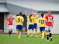 Swedish players celebrate Sofia Jacobsson's goal. Norway-Sweden, WU17 Four Nation's Tournament. Eerikkilä, Finland, 25.5.2007. Photo: Jussi Eskola