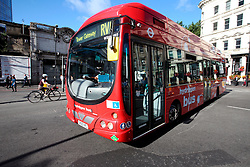 UK ENGLAND LONDON 21JUL15 - A hydrogen-powered bus arrives in London Bridge at the start of a working day in London.<br /> <br /> <br /> <br /> jre/Photo by Jiri Rezac / Greenpeace<br /> <br /> <br /> <br /> © Jiri Rezac 2015