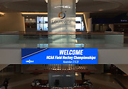 General overall view of NCAA Field Hockey Championships sign at the Louisville International Airport in Louisville, Ky. on Friday, Nov. 17, 2017.
