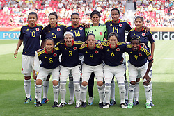 28.06.2011, FIFA Frauen-WM-Stadion Leverkusen, Leverkusen, GER, FIFA Women Worldcup 2011, Gruppe C, Kolumbien (COL) vs. Schweden (SWE), im Bild:  Team Kolumbien   // during the FIFA Women´s Worldcup 2011, Pool C, Colombia vs Sweden on 2011/06/28, FIFA Frauen-WM-Stadion Leverkusen, Leverkusen, Germany.   EXPA Pictures © 2011, PhotoCredit: EXPA/ nph/  Mueller *** Local Caption ***       ****** out of GER / CRO  / BEL ******