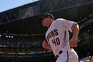 PHOENIX, AZ - APRIL 2:  Andrew Chafin #40 of the Arizona Diamondbacks is introduced on Opening Day for the game against the San Francisco Giants at Chase Field on Sunday, April 2, 2017 in Phoenix, Arizona. (Photo by Jennifer Stewart/MLB Photos via Getty Images) *** Local Caption *** Andrew Chafin