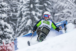Slivnik Jernej from Slovenia during Slalom race at 2019 World Para Alpine Skiing Championship, on January 23, 2019 in Kranjska Gora Slovenia. Photo by Matic Ritonja / Sportida