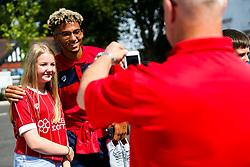 Lloyd Kelly of Bristol City meets fans outside Ashton Gate as he arrives for the first matchday of the season - Rogan/JMP - 04/08/2018 - Ashton Gate Stadium - Bristol, England - Bristol City v Nottingham Forest - Sky Bet Championship.