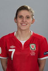 TREFOREST, WALES - Tuesday, February 14, 2011: Wales' Amy Lea. (Pic by David Rawcliffe/Propaganda)