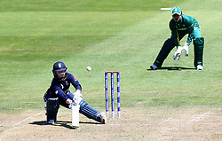 Tammy Beaumont of England Women plays an improvised shot - Mandatory by-line: Robbie Stephenson/JMP - 05/07/2017 - CRICKET - County Ground - Bristol, United Kingdom - England Women v South Africa Women - ICC Women's World Cup Group Stage