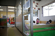 In fear of high levels of radiation  parents doesn't allow their children to play outdoors. Instead they come to the indoor playground at a warehouse that also serves as a distribution centre for residents who fear eating the local produce and drinking the tap water.<br /> Minamisoma, Fuksushima Prefecture, Japan