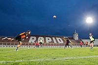 BOEKAREST - 19-08-15, Europa League, Astra GiurGiu - AZ, training, Stadionul Giulesti, AZ speler Muamer Tankovic, AZ speler Robert Muhren (r).