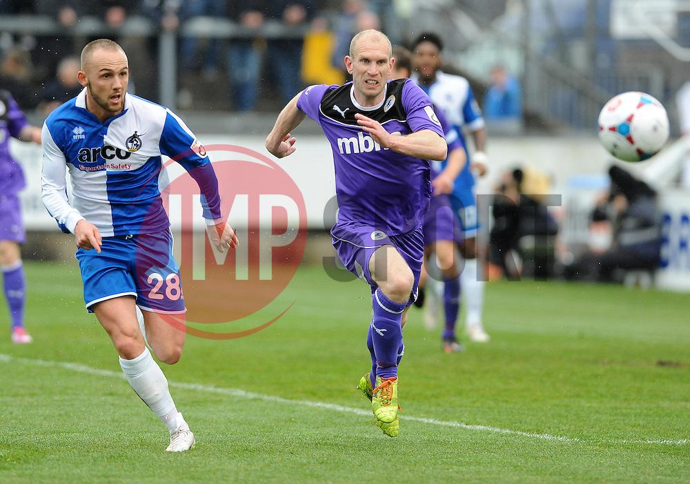 Bristol Rovers' Adam Dawson  - Photo mandatory by-line: Neil Brookman/JMP - Mobile: 07966 386802 - 03/04/2015 - SPORT - Football - Bristol - Memorial Stadium - Bristol Rovers v Chester - Vanarama Football Conference