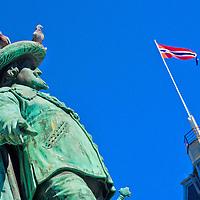 Alberto Carrera, Statue of King Christian IV, The Grand Plaza, Stortorvet, Oslo, Norway, Europe