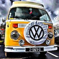 Old retro Volkswagen vehicle
