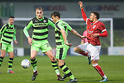 Forest Green Rovers Alfie Madden(7) on the ball during the Gloucestershire Senior Cup match between Forest Green Rovers and U23 Bristol City at the New Lawn, Forest Green, United Kingdom on 9 April 2018. Picture by Shane Healey.