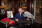 NICKY HASLAM; CHARLOTTE GRIFFITHS, Ralph Lauren host launch party for Nicky Haslam's book ' A Designer's Life' published by Jacqui Small. Ralph Lauren, 1 Bond St. London. 19 November 2014
