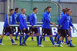 Luka Elsner, Miso Brecko (2), Branko Ilic (18), Bostjan Cesar (5), Valter Birsa (10)  at practice of Slovenian men National team, on October 13, 2008, in Domzale, Slovenia.  (Photo by Vid Ponikvar / Sportal Images)