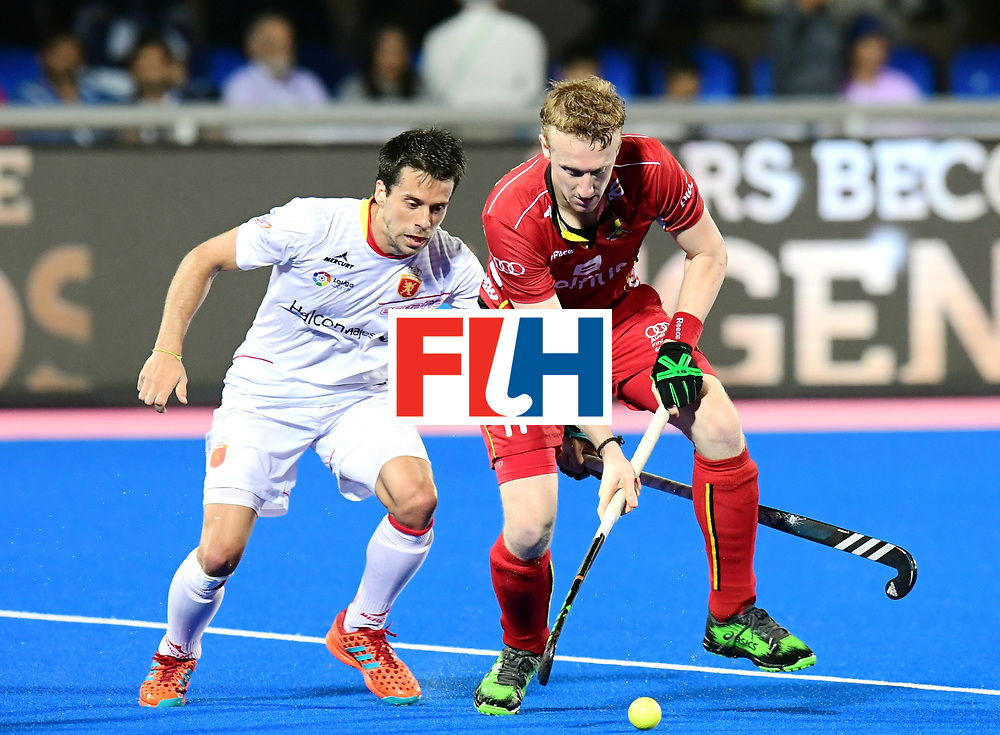 Odisha Men's Hockey World League Final Bhubaneswar 2017<br /> Match id:18<br /> Belgium v Spain<br /> Foto: Amaury Keusters (Bel) <br /> COPYRIGHT WORLDSPORTPICS FRANK UIJLENBROEK