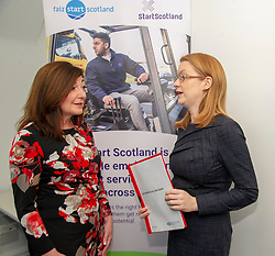 Pictured: Social Security Secretary Shirley-Anne Somerville and Louise Accarino, Start Scotland's Performance Manager for Edinburgh and Lothians.<br />