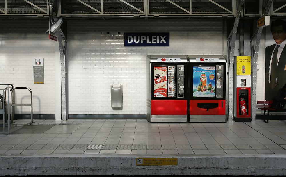 Dupleix Metro st. Paris, France