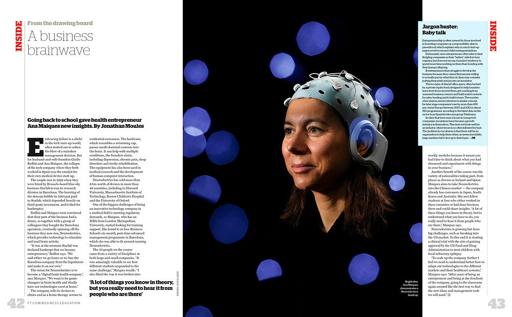 Neuroelectrics CEO Ana Maiques, photographed for the Financial Times