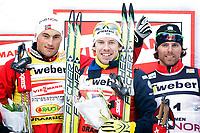 Langrenn<br /> FIS World Cup<br /> Verdenscup sprint<br /> Drammen 11.03.10<br /> <br /> Emil Jönsson , Petter Northug og  Andrew Newell<br /> <br /> Foto: Eirik Førde